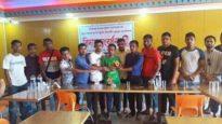 জগন্নাথপুরে ফুটবল এসোসিয়েশনের ক্রীড়া সম্পাদকের বিদায়ী সংর্বধনা