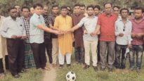 নকশিয়া পুঞ্জি যুব সংঘের উদ্যোগে বৈশাখী ফুটবল টুর্নামেন্ট খেলা উদ্ধোধন সম্পন্ন