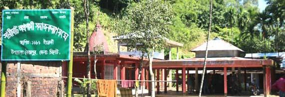 জৈন্তাপুরে মন্দিরের সম্মুখের জায়গা দখল করে ঘর নির্মাণের চেষ্টা : পুলিশি বাধায় পণ্ড