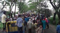 ফসল হারিয়ে আন্দোলনে সুনামগঞ্জের কৃষকরা