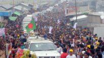 কক্সবাজারে খালেদা জিয়া : পথে পথে জনতার ঢল