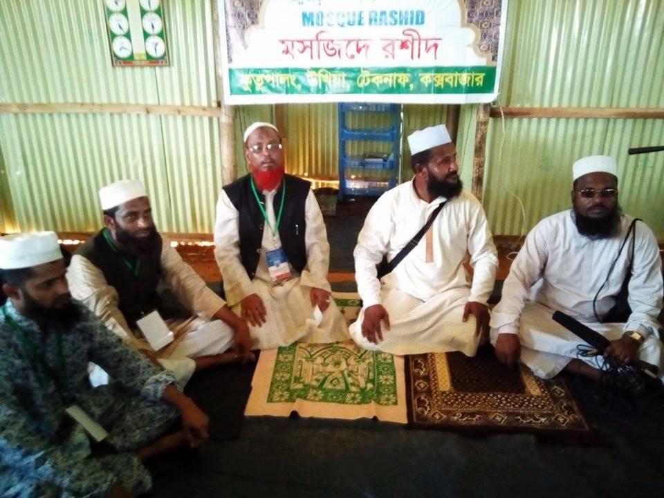 """রোহিঙ্গা ক্যাম্পে """"মসজিদে রশীদ""""এর উদ্বোধন"""
