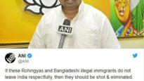 'অবৈধ বাংলাদেশী ও রোহিঙ্গাদের গুলি করা উচিত'