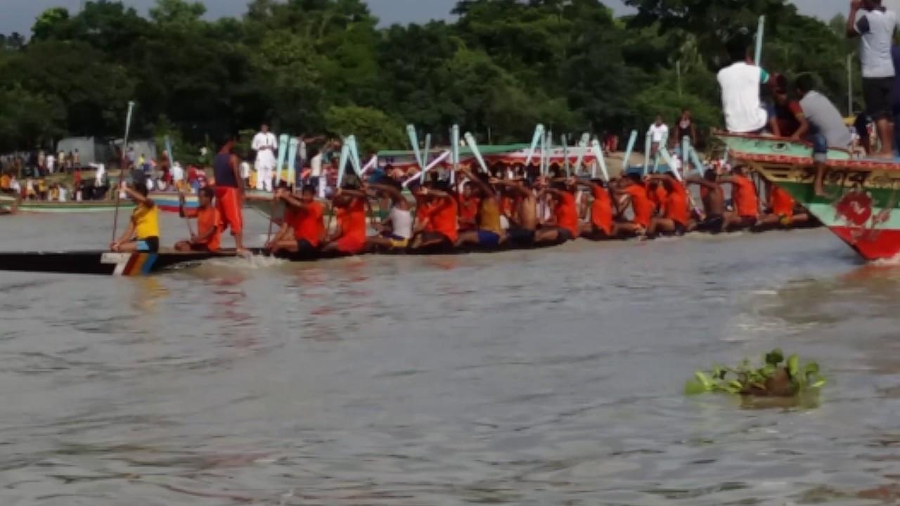 কুশিয়ারা নদীতে ঐতিহ্যবাহী নৌকা বাইচ