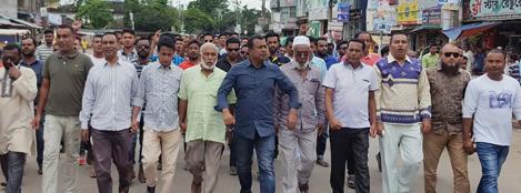 খালেদা জিয়ার সাজার প্রতিবাদে সুনামগঞ্জে বিএনপির বিক্ষোভ