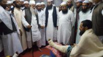 ইজতেমা মাঠে আহতদের পাশে জমিয়ত মহাসচিব আল্লামা নুর হোসাইন কাসেমী