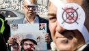 বিশ্বব্যাপী সাংবাদিকদের চোখ বেঁধে সংবাদ পাঠ, ইহুদীবাদী ইসরাইলের বিরুদ্ধে প্রতিবাদ