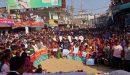 পাথর কোয়ারি সচলের দাবিতে বিশাল শ্রমিক সমাবেশ